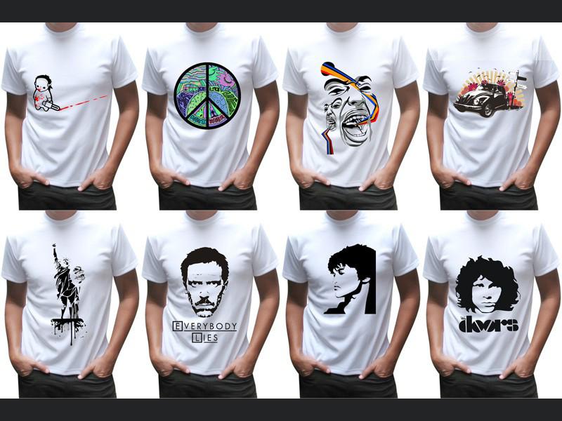 Рисунки и фото на футболке своими руками